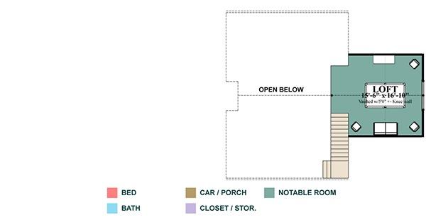 Cottage Floor Plan - Upper Floor Plan Plan #63-399