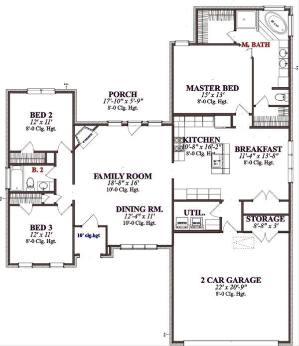 Traditional Floor Plan - Main Floor Plan Plan #63-318