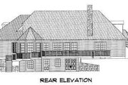 European Style House Plan - 3 Beds 2.5 Baths 2454 Sq/Ft Plan #75-113 Exterior - Rear Elevation