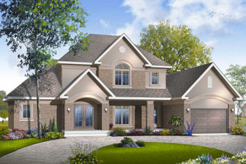 Traditional Exterior - Front Elevation Plan #23-831 - Houseplans.com