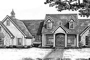 Colonial Style House Plan - 3 Beds 2.5 Baths 2543 Sq/Ft Plan #310-539 Exterior - Front Elevation