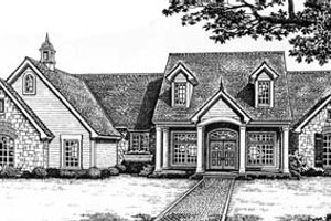 Colonial Exterior - Front Elevation Plan #310-539