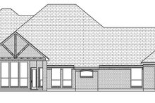 Tudor Exterior - Rear Elevation Plan #84-591