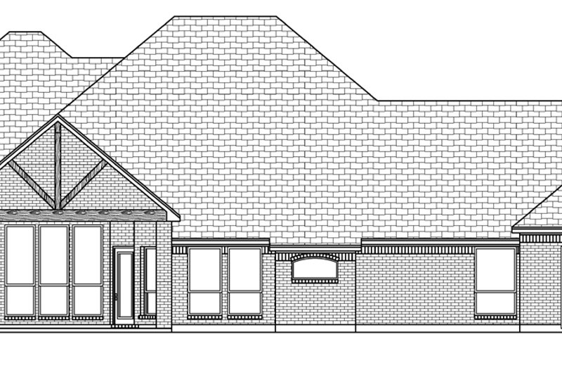 Tudor Exterior - Rear Elevation Plan #84-591 - Houseplans.com