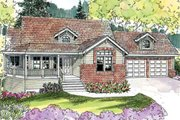 Craftsman Style House Plan - 3 Beds 2.5 Baths 2197 Sq/Ft Plan #124-628 Exterior - Front Elevation
