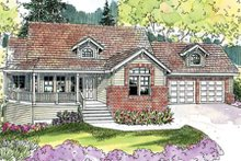 Dream House Plan - Craftsman Exterior - Front Elevation Plan #124-628