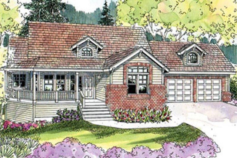 Craftsman Exterior - Front Elevation Plan #124-628