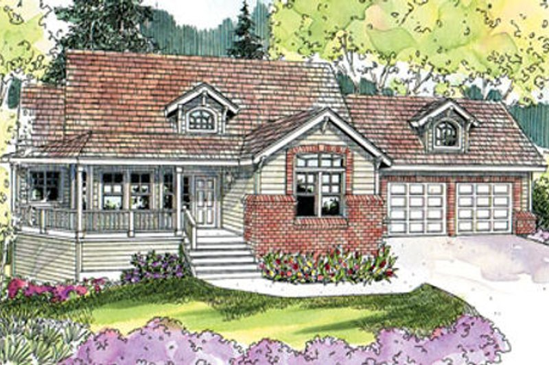 Craftsman Exterior - Front Elevation Plan #124-628