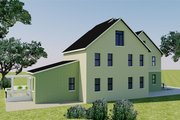 Farmhouse Style House Plan - 5 Beds 6 Baths 4635 Sq/Ft Plan #542-10 Exterior - Rear Elevation