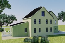 Farmhouse Exterior - Rear Elevation Plan #542-10