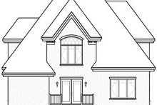 Home Plan - Traditional Exterior - Rear Elevation Plan #23-721