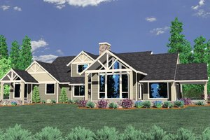 Country Exterior - Front Elevation Plan #509-51