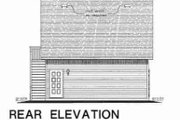 Bungalow Style House Plan - 1 Beds 1 Baths 459 Sq/Ft Plan #18-4527 Exterior - Rear Elevation