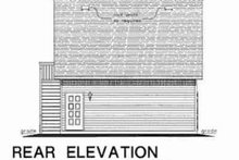 Bungalow Exterior - Rear Elevation Plan #18-4527