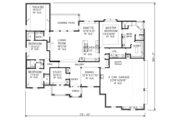 Country Style House Plan - 3 Beds 2.5 Baths 2646 Sq/Ft Plan #65-530 Floor Plan - Main Floor Plan