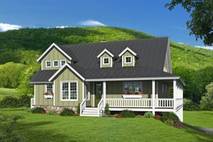 House Plan Design - Farmhouse Exterior - Front Elevation Plan #932-34
