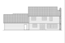 Dream House Plan - European Exterior - Rear Elevation Plan #124-275