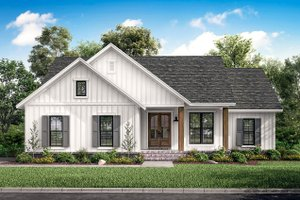 Home Plan Design - Farmhouse Exterior - Front Elevation Plan #430-200
