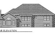 Traditional Style House Plan - 3 Beds 2.5 Baths 1892 Sq/Ft Plan #70-230 Exterior - Rear Elevation