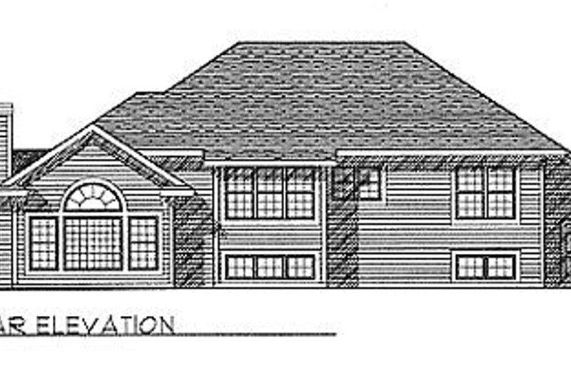 Traditional Exterior - Rear Elevation Plan #70-230 - Houseplans.com