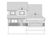 Traditional Style House Plan - 3 Beds 2.5 Baths 1621 Sq/Ft Plan #1060-4 Exterior - Front Elevation
