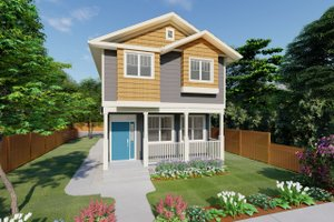 Craftsman Exterior - Front Elevation Plan #126-200