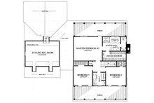 Southern Floor Plan - Upper Floor Plan Plan #137-275
