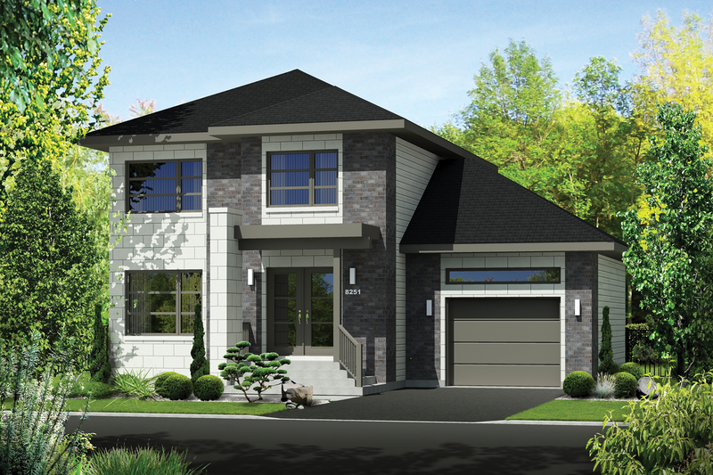 Contemporary Exterior - Front Elevation Plan #25-4294