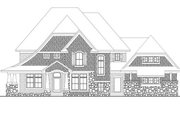 House Plan - 4 Beds 3.5 Baths 3883 Sq/Ft Plan #51-544 Exterior - Front Elevation
