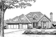 Traditional Style House Plan - 3 Beds 2.5 Baths 1941 Sq/Ft Plan #310-910 Exterior - Front Elevation