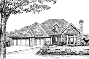 Traditional Exterior - Front Elevation Plan #310-910