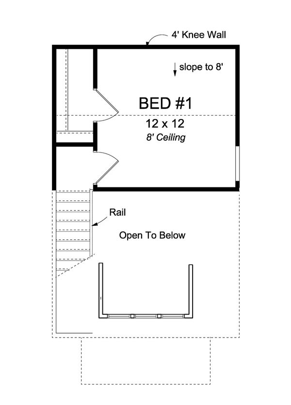 Cottage Floor Plan - Upper Floor Plan #513-2183