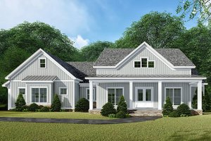 Home Plan - Country Exterior - Front Elevation Plan #923-132