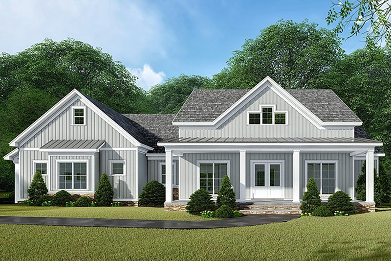 Country Style House Plan - 3 Beds 2.5 Baths 2031 Sq/Ft Plan #923-132 Exterior - Front Elevation
