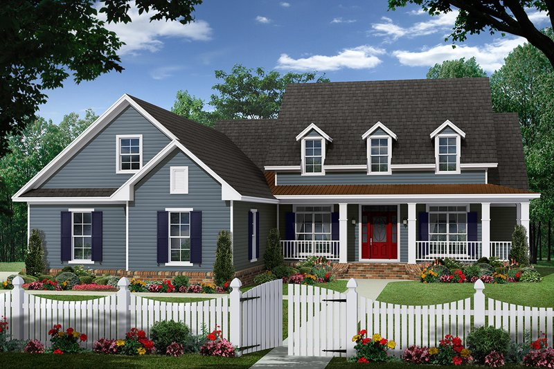 Farmhouse Style House Plan - 3 Beds 2.5 Baths 2150 Sq/Ft Plan #21-452 Exterior - Front Elevation