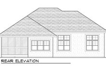 Dream House Plan - European Exterior - Rear Elevation Plan #70-991