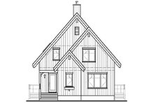 Cottage Exterior - Front Elevation Plan #23-670