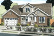 Traditional Style House Plan - 5 Beds 4 Baths 2317 Sq/Ft Plan #513-2061 Exterior - Front Elevation