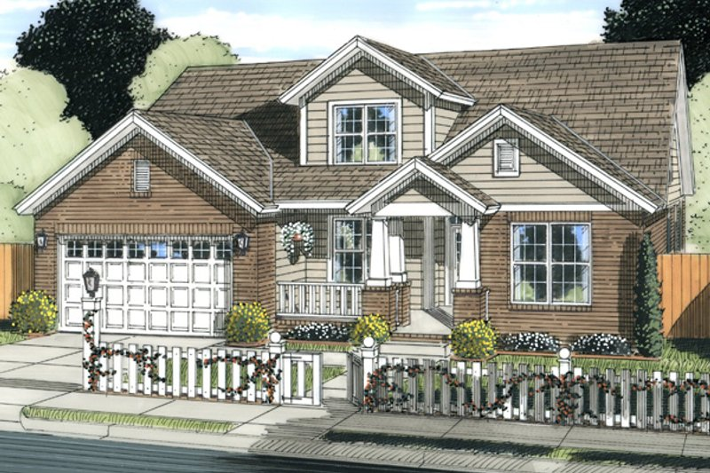 Architectural House Design - Traditional Exterior - Front Elevation Plan #513-2061