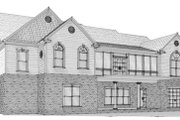 European Style House Plan - 5 Beds 3.5 Baths 3615 Sq/Ft Plan #63-126 Exterior - Other Elevation