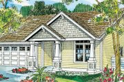 Craftsman Style House Plan - 3 Beds 2 Baths 1500 Sq/Ft Plan #124-747 Exterior - Front Elevation