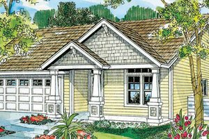 Craftsman Exterior - Front Elevation Plan #124-747