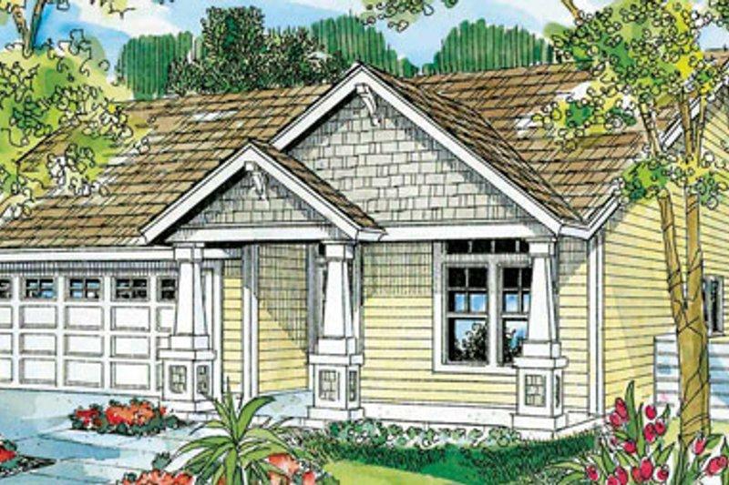 Craftsman Exterior - Front Elevation Plan #124-747 - Houseplans.com
