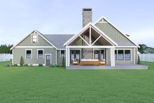 House Plan Design - Craftsman Exterior - Rear Elevation Plan #1070-67