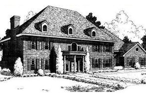 Southern Exterior - Front Elevation Plan #310-171