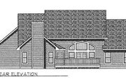 Traditional Style House Plan - 3 Beds 2.5 Baths 2795 Sq/Ft Plan #70-447 Exterior - Rear Elevation