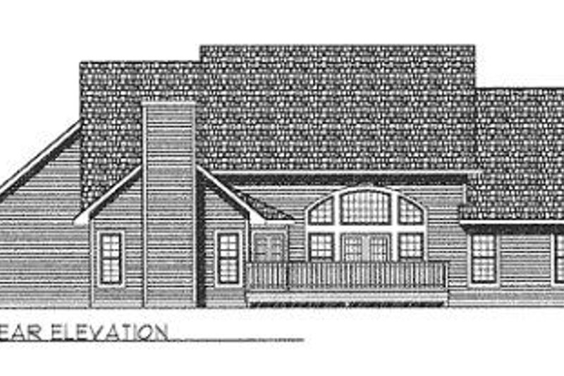 Traditional Exterior - Rear Elevation Plan #70-447 - Houseplans.com