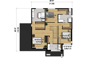 Contemporary Style House Plan - 3 Beds 2.5 Baths 2575 Sq/Ft Plan #25-4481