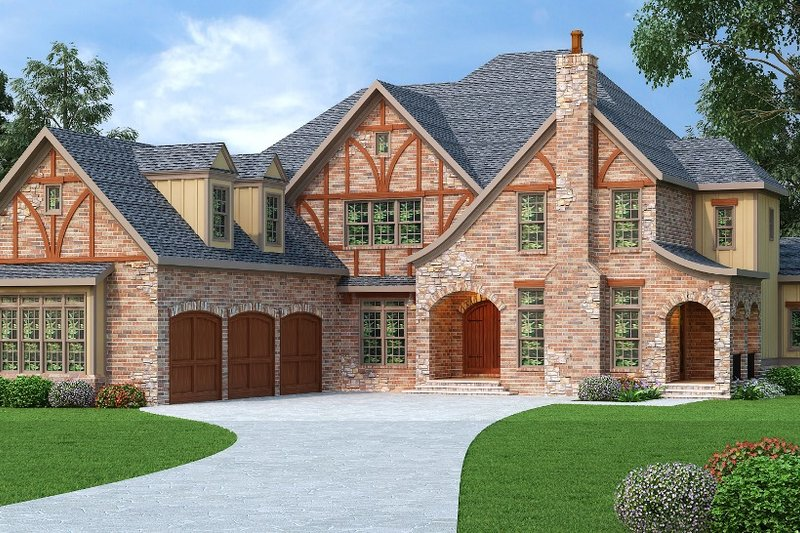 Dream House Plan - European Exterior - Front Elevation Plan #419-242