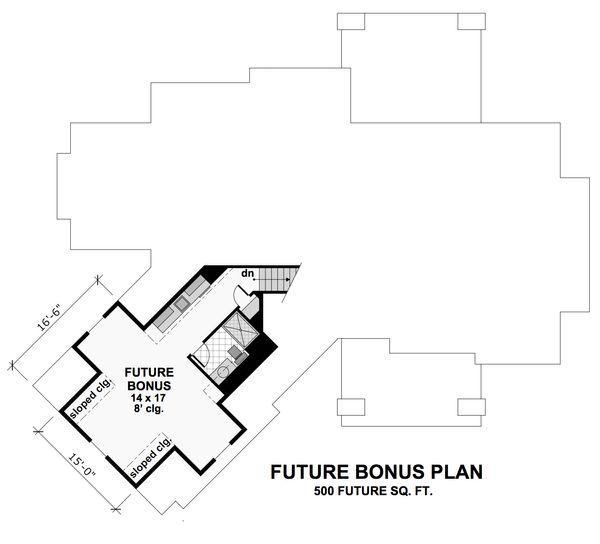 Craftsman Floor Plan - Upper Floor Plan Plan #51-571